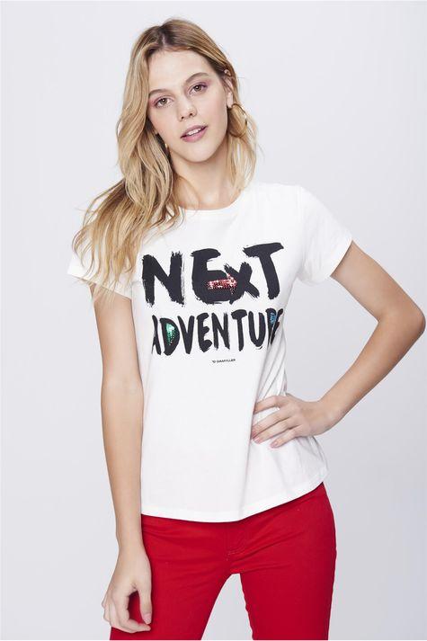 Camiseta-Estampada-com-Paetes-Feminina-Frente--