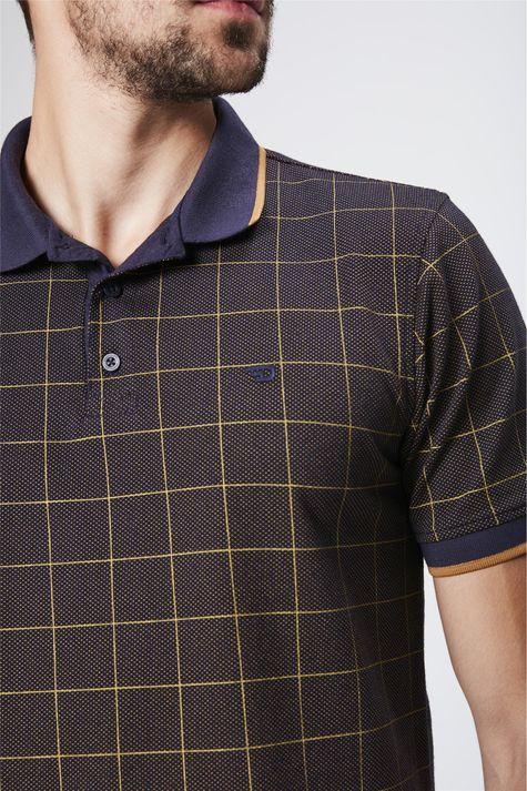 Camisa-Gola-Polo-Xadrez-Masculina-Detalhe--