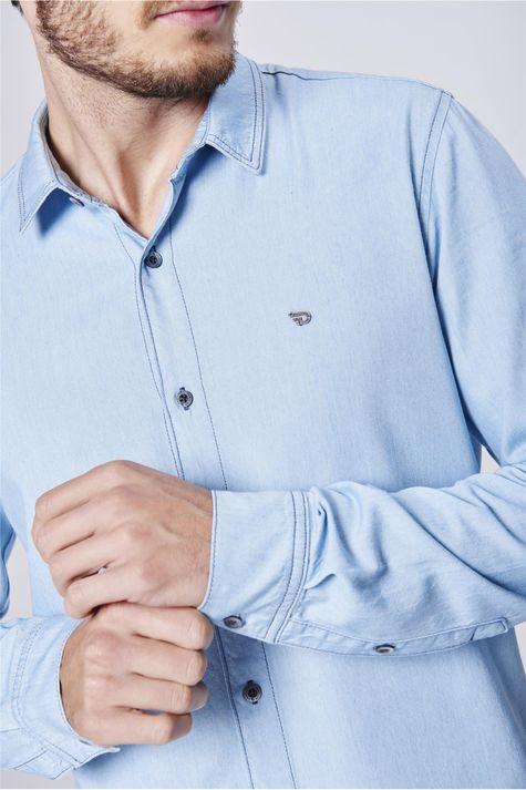 Camisa-Jeans-Masculina-Manga-Longa-Detalhe--