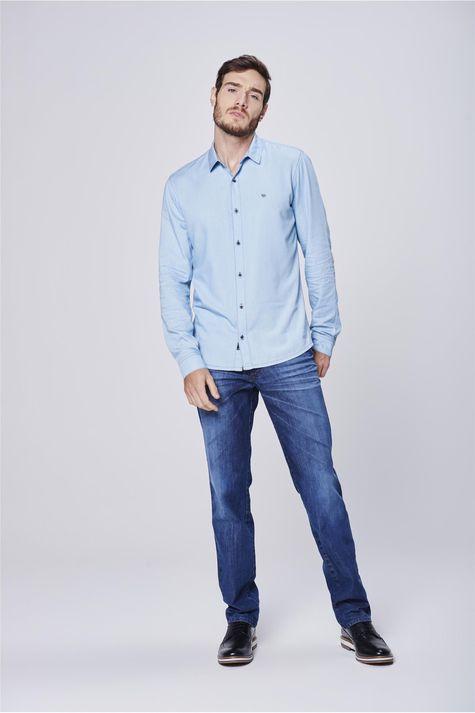 Camisa-Jeans-Masculina-Manga-Longa-Frente--