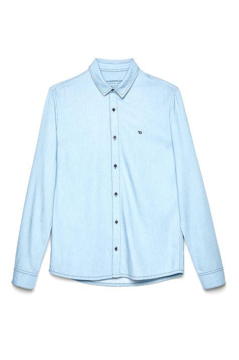 Camisa-Jeans-Masculina-Manga-Longa-Detalhe-Still--