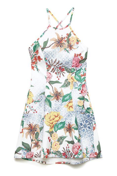 b768fc1384 ... Vestido-de-Estampa-Floral-de-Alca-Frente--