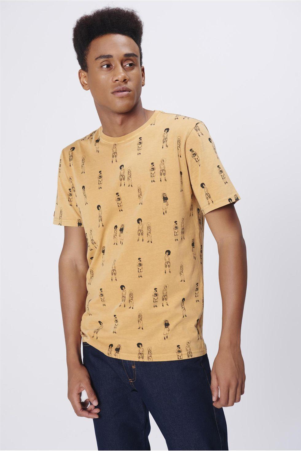 Camiseta-Unissex-Estampa-Repeticao-Frente--