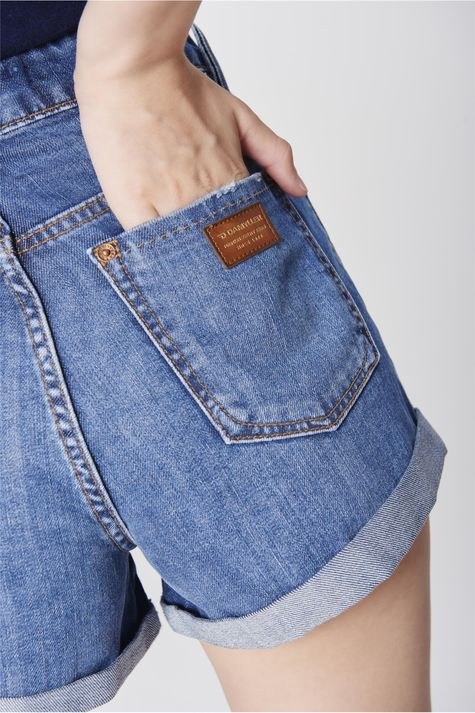 Short-Jeans-de-Cintura-Alta-Feminino-Detalhe--