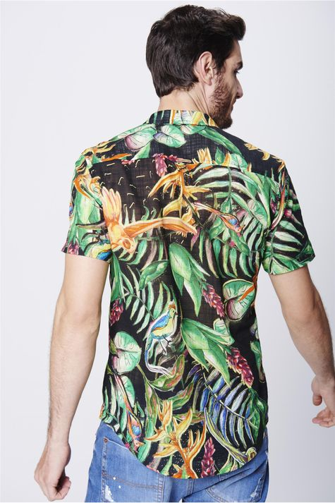 Camisa-com-Estampa-Floral-Unissex-Costas--