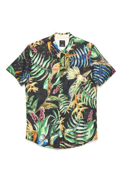 Camisa-com-Estampa-Floral-Unissex-Detalhe-Still--