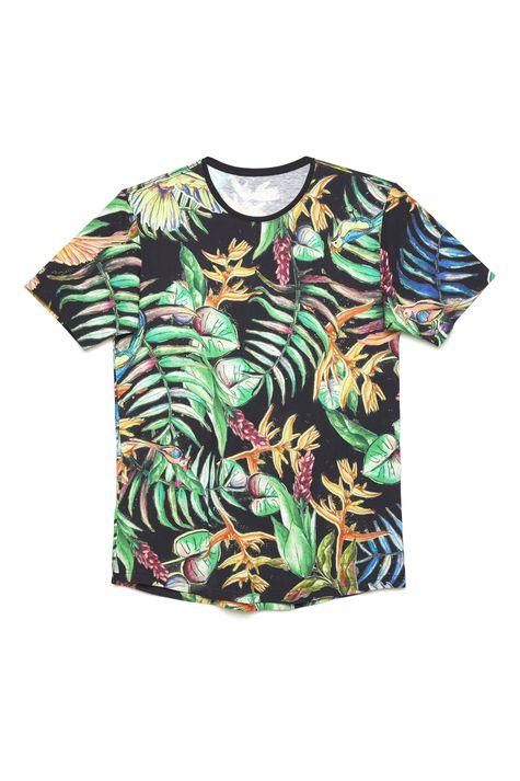 Camiseta-com-Estampa-Floral-Unissex-Detalhe-Still--