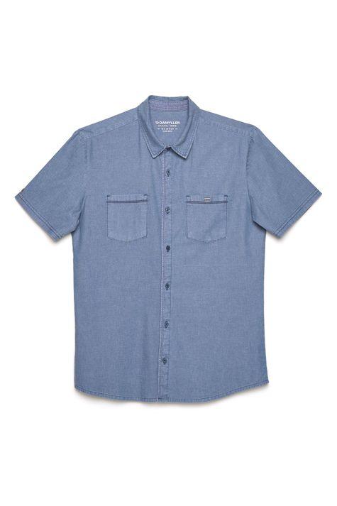 Camisa-Jeans-Masculina-Bolsos-Frontais-Detalhe-Still--