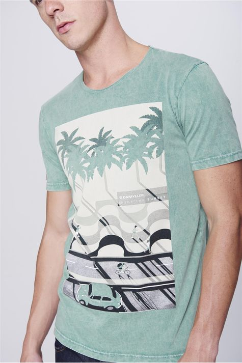Camiseta-Fit-Estampada-Tingida-Masculina-Frente--