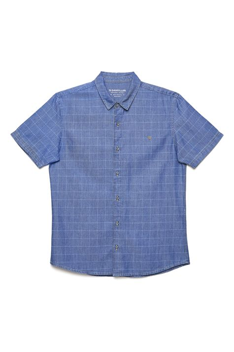 Camisa-Jeans-Xadrez-Masculina-Detalhe-Still--