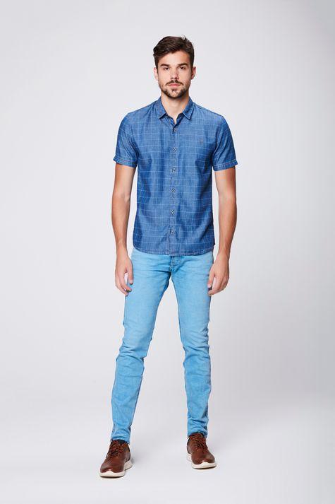 Camisa-Jeans-Xadrez-Masculina-Detalhe-1--