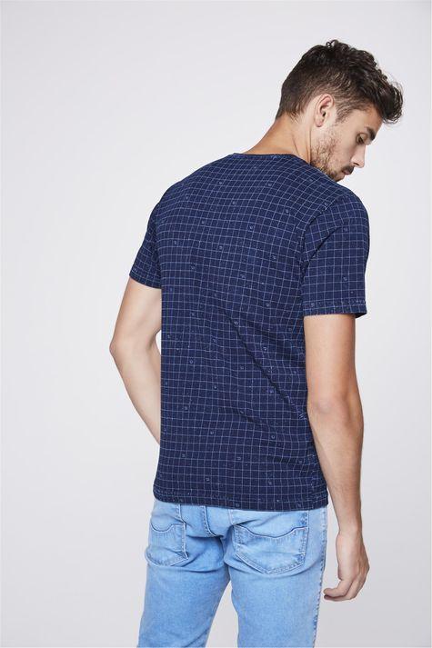 Camiseta-de-Malha-Denim-com-Print-Xadrez-Costas--