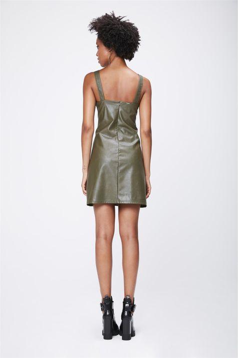 Vestido-Verde-Militar-Resinado-Costas--
