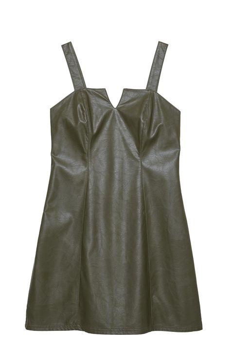 Vestido-Verde-Militar-Resinado-Detalhe-Still--