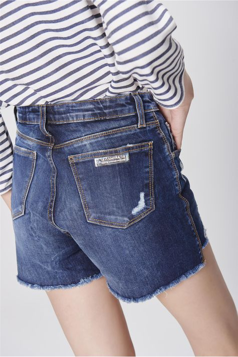 927e23b1a ... Short-Jeans-de-Cintura-Alta-Destroyed-Frente-- ...