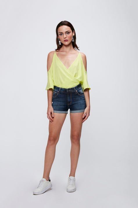 Short-Jeans-com-Cintura-Alta-Feminino-Frente--
