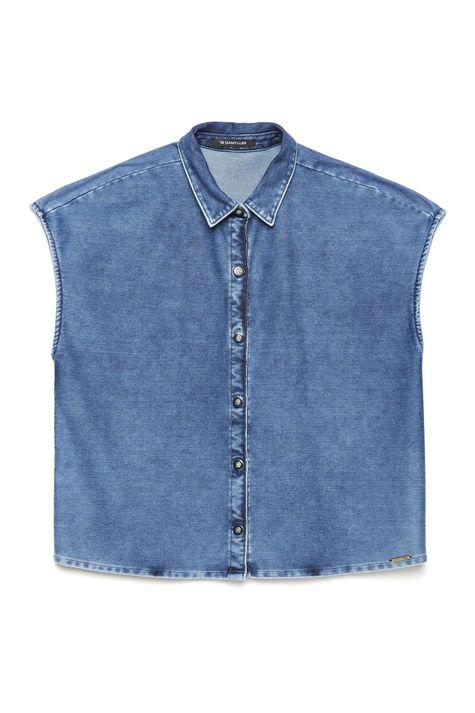 Camisa-Jeans-sem-Mangas-Feminina-Detalhe-Still--