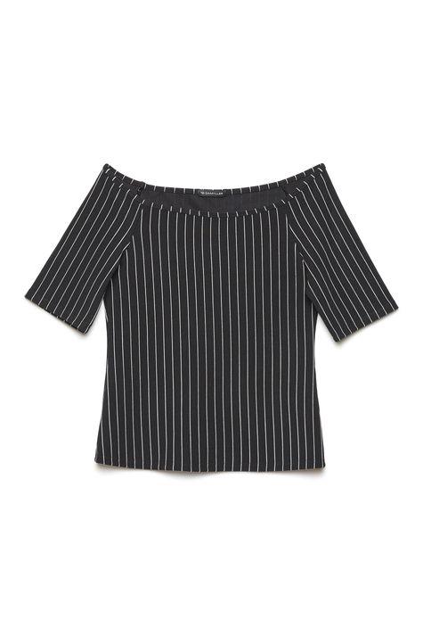 Blusa-Ombro-a-Ombro-Listrada-Feminina-Detalhe-Still--