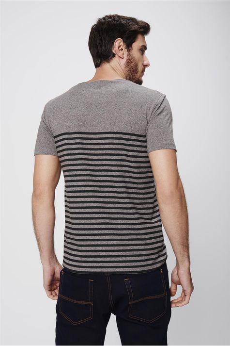 Camiseta-Listrada-Malha-Mescla-Masculina-Costas--