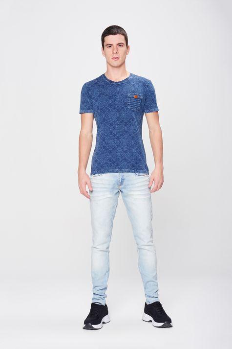 Camiseta-Fit-de-Malha-Denim-Masculina-Frente--