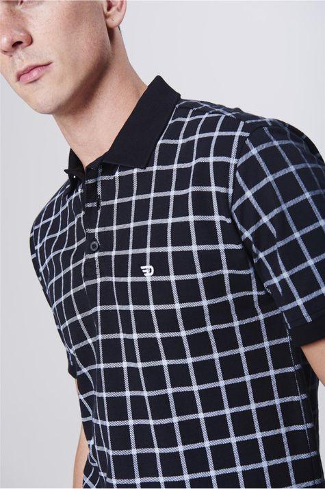 Camisa-Gola-Polo-Fit-Xadrez-Masculina-Detalhe--