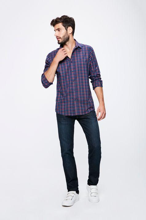 Camisa-Xadrez-Manga-Longa-Masculina-Detalhe-1--
