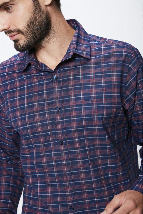 Camisa-Xadrez-Manga-Longa-Masculina-Detalhe--