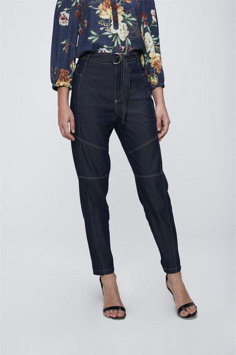 Calca-Jeans-Cargo-com-Cinto-Feminina-Frente-1--