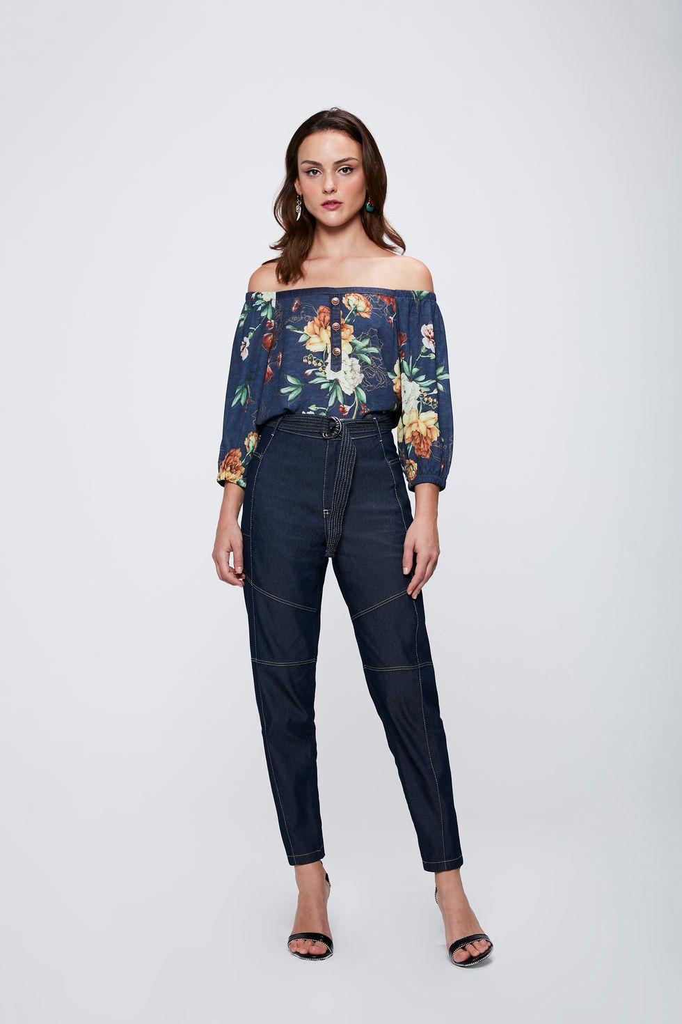 Calca-Jeans-Cargo-com-Cinto-Feminina-Frente--