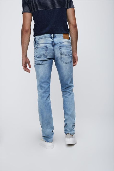 Calca-Skinny-Jeans-Claro-Masculina-Costas--