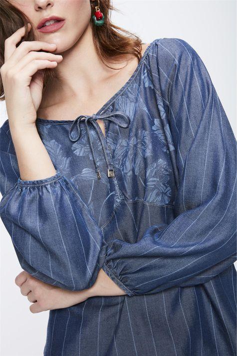 Blusa-Jeans-com-Amarracao-Feminina-Detalhe--