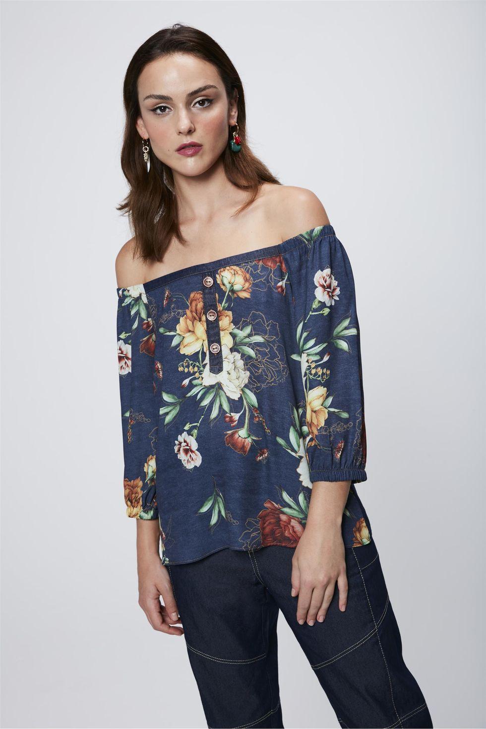 Blusa-Floral-Ombro-a-Ombro-Feminina-Frente--