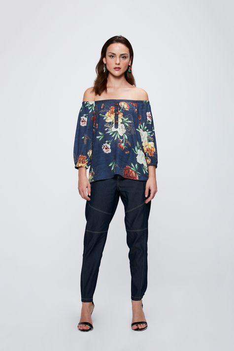 Blusa-Floral-Ombro-a-Ombro-Feminina-Detalhe-1--