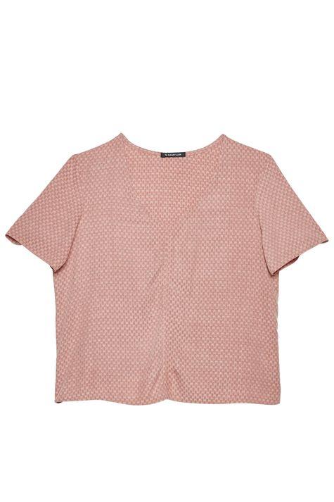 Camiseta-com-Decote-V-e-Textura-Feminina-Detalhe-Still--
