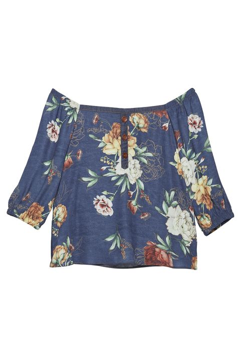 Blusa-Floral-Ombro-a-Ombro-Feminina-Detalhe-Still--