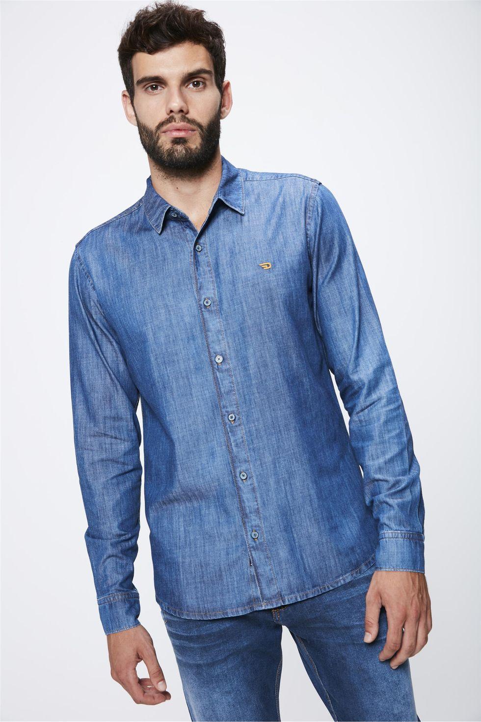 Camisa-Jeans-Basica-Masculina-Frente--