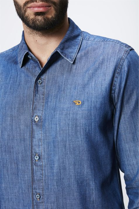 Camisa-Jeans-Basica-Masculina-Detalhe--