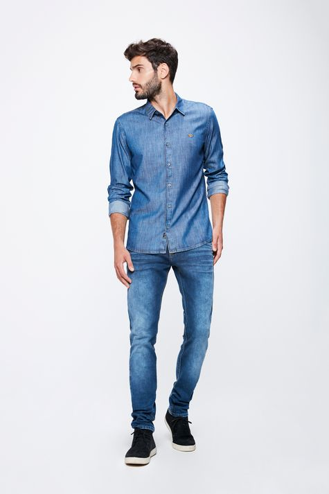 Camisa-Jeans-Basica-Masculina-Detalhe-1--