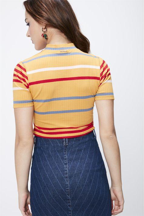 Camiseta-Listrada-Cropped-Feminina-Costas--