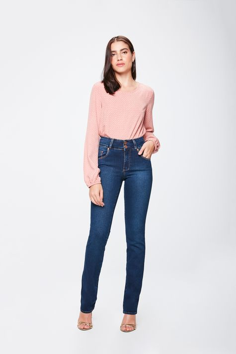 Calca-Jeans-Cintura-Alta-Reta-Feminina-Frente--