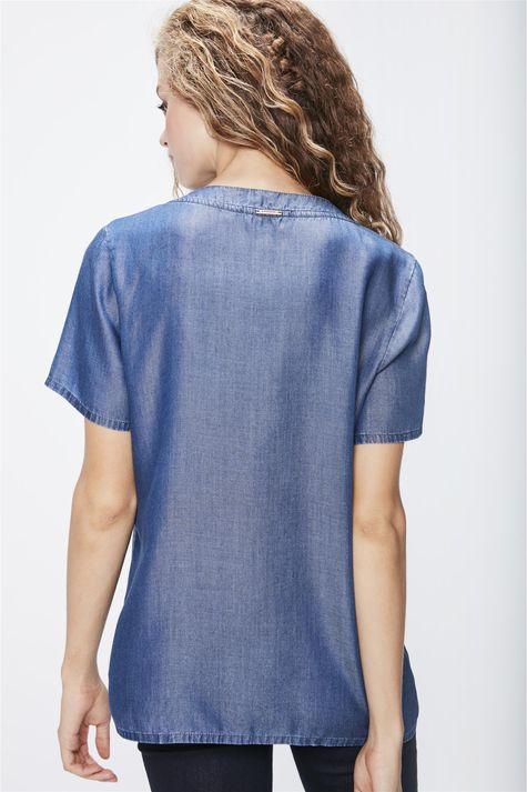 Camiseta-Jeans-Gola-V-Feminina-Costas--