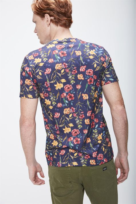 Camiseta-Floral-Masculina-Costas--