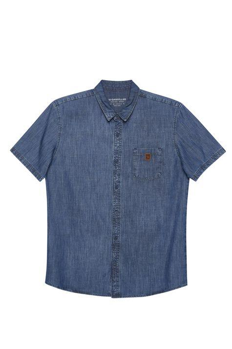 Camisa-Jeans-Manga-Curta-Masculina-Detalhe-Still--