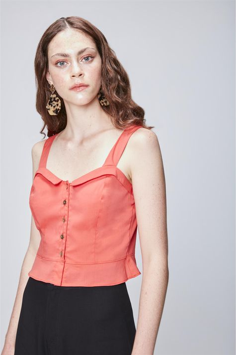 Blusa-Cropped-com-Abotoamento-Feminina-Frente--