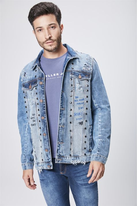 Jaqueta-Jeans--Masculina--Recollect-Frente--