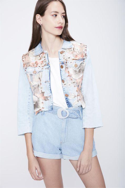 Jaqueta-Jeans-Curta-Recollect-Frente--
