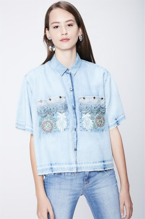Camisa-Jeans-Cropped-Recollect-Frente---