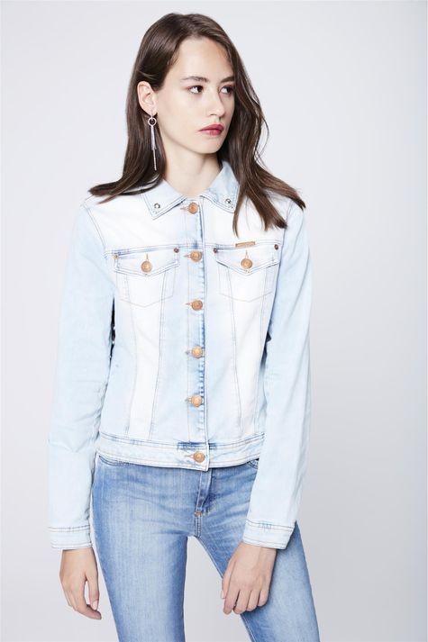 Jaqueta-Jeans-Animal-Print-Recollect-Frente--