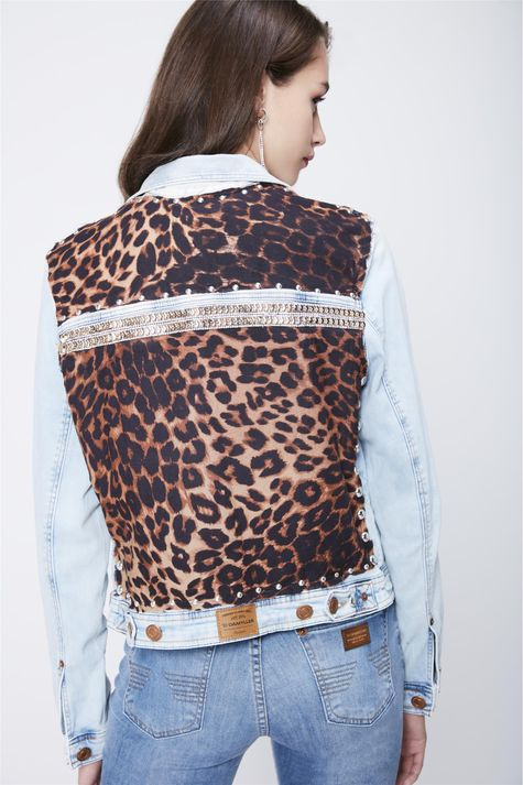 Jaqueta-Jeans-Animal-Print-Recollect-Costas--