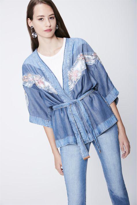 Kimono-Jeans-com-Renda-Recollect-Frente---